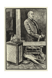 The Studio of Frank Holl Giclee-trykk av Charles Paul Renouard
