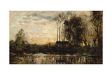 Evening at Bas Meudon, 1874 Giclee Print by Charles Francois Daubigny