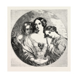 The Rose, Shamrock, and Thistle, Exhibition of the Society of British Artists, 1851 Giclee Print by Charles Baxter