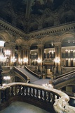 Internal Staircase of Palais Garnier Giclee Print by Charles Garnier