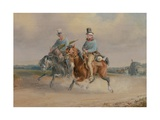 Travelling Companions, or a Scene on the Road in France Giclee Print by Charles Cooper Henderson
