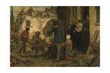 The Expulsion Giclee Print by Charles de Groux