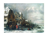 A Winter Landscape Giclee Print by Claes Molenaer