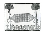 A Hammock from 'La Historia General De Las Indias' 1547 Giclee Print by Christopher Columbus