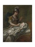 Portrait of Princess Augusta as a Baby, with Britannia Giclee Print by Charles Philips