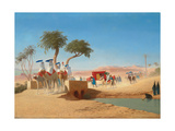The Empress Eugenie Visiting the Pyramids Giclee Print by Charles Theodore Frere
