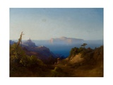 View of Capri Giclee Print by Consalvo Carelli