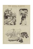 The Royal Academy Giclee-trykk av Charles Paul Renouard