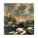 Winter Scene Giclee Print by Claes Molenaer