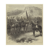 The War in the East, Montenegrin Cavalry at Cettigne Giclee Print by Charles Yriarte