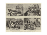 The Royal Niger Company's Expedition, Everyday Scenes on the River Niger Giclee Print by Charles J. Staniland