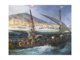 View of Port of Cette, 1757 Giclée-Druck von Claude-Joseph Vernet