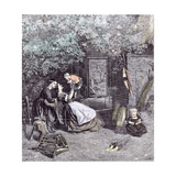 Happy Days in the Garden, 1860 Giclee Print by Charles James Lewis