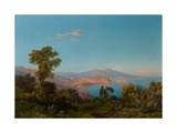 View of the Bay of Naples Giclee Print by Consalvo Carelli