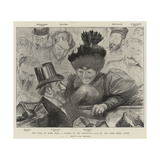 The Trial of Mons Zola, a Corner of the Reporters' Desk in the Paris Assize Court Giclee Print by Charles Paul Renouard