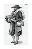 Jewish Hawker of Hamburg, Eighteenth Century Giclee Print by Christoph Suhr