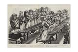 Whitechapel Way, Children at Prayer in the Church Schools, Osborne Street Giclee Print by Charles Paul Renouard