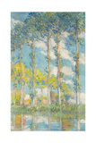 The Poplars; Les Peupliers, 1891 Giclee Print by Claude Monet