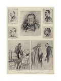 The Trial of Captain Dreyfus at Rennes, Sketches in Court Giclee Print by Charles Paul Renouard