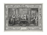 Marriage Ceremony of Louis XIV (1638-1715) King of France and Navarre Giclee Print by Charles Le Brun