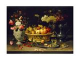 Still Life of Fruit and Flowers, 1608 - 1621 Impression giclée par Clara Peeters