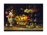 Still Life of Fruit and Flowers, 1608 - 1621 Giclée-tryk af Clara Peeters