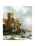 Winter Landscape Giclee Print by Claes Molenaer