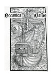Drawing of the Santa Maria, 1493 Giclee Print by Christopher Columbus
