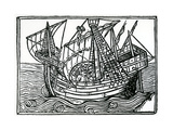 A Spanish Ship, 1496 Giclee Print by Christopher Columbus