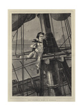 Mast-Headed, a Middy in Disgrace Giclee Print by Charles Wynne Nicholls