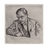 M Octave Mirbeau, a Staunch Supporter of Captain Dreyfus Giclee-trykk av Charles Paul Renouard