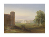 Government House and Stables, Sydney, 1841 Giclee Print by Conrad Martens