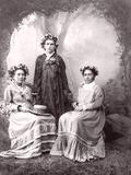 Tahitian Women, Tahiti, Late 1800s Photographic Print by Charles Gustave Spitz