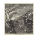 The Prince of Wales Embarking at Dover for India Giclee Print by Charles Robinson