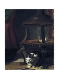 Cat under Burning Brazier, Detail from Infant Jesus Sleeping Giclee Print by Charles Le Brun