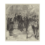 Reception of Princess Louise at Inverary Castle Giclee Print by Charles Robinson
