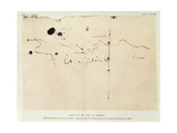 Sketch of the Coast of Espanola Giclee Print by Christopher Columbus