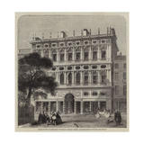 Offices of the Life Association of Scotland, Recently Erected, in Princes-Street, Edinburgh Giclee Print by Charles Landelle