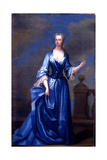 Portrait of Maria Skerrett, Lady Walpole in a Blue Dress on a Balcony Giclee Print by Charles Jervas
