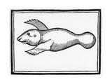 A Fish Called 'Manati' from 'La Historia General De Las Indias' 1547 Giclee Print by Christopher Columbus