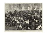 The World at Monte Carlo, the Rush for Seats on the Opening of the Doors of the Casino Giclee Print by Charles Paul Renouard