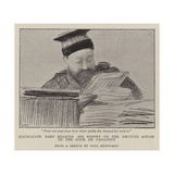 Councillor Bard Reading His Report on the Dreyfus Affair to the Cour De Cassation Giclee-trykk av Charles Paul Renouard