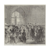 Meeting of the New Parliament, Members Passing Through Westminster Hall Giclee Print by Charles Robinson