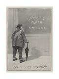 Advertisement, Dewar's Perth Whisky Giclee Print by David Hardy