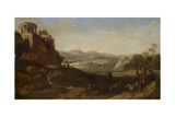 Shepherds in the Campagna, 1620-67 Giclee Print by Cornelis van Poelenburgh