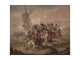 7th Queen's Own Hussars under Sir Edward Kerrison, Charging the French at Quatre Bras, 1818 Giclee Print by Denis Dighton
