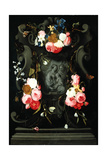 Flower Garland with the Holy Family, 1625-27 Giclee Print by Daniel Seghers
