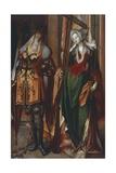 The Emperor Constantine and St Helen Giclee Print by Cornelis Engebrechtsz