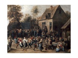 Country Celebration Giclee Print by David Teniers the Younger