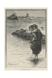 The Fisherman's Greeting Giclee Print by Davidson Knowles